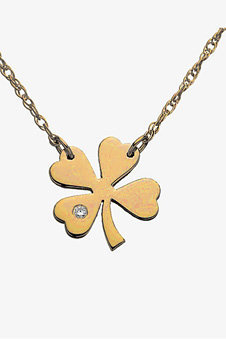 "Jennifer Zeuner 16"" Mini Clover Diamond Necklace"