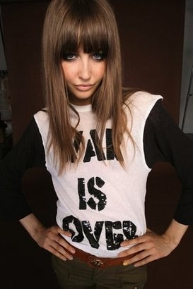 Wildfox Couture War Is Over Sequin Campfire Tee in Clean White