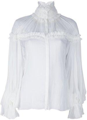 Alexander McQueen sheer blouse