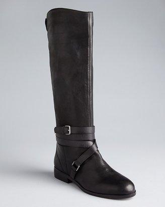 Dolce Vita Flat Riding Boots - Laila Ankle Wrap