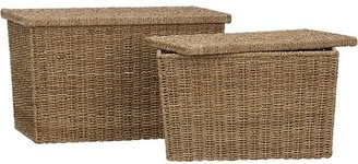 Crate & Barrel Quinn Storage Trunks Set of Two