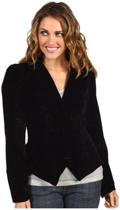 Scully Isabeau Victorian Velvet Outing Jacket (Black) - Apparel