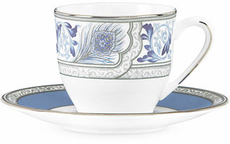 Marchesa by Lenox Sapphire Plume Espresso Cup and Saucer Set