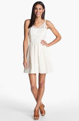 Jessica Simpson V-Neck Fit & Flare Dress