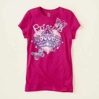 Children's Place Princess crown graphic tee