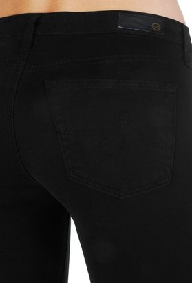 AG Jeans The Sateen Stilt Crop - Super Black