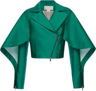 Antonio Berardi Emerald Silk Scuba Short Jacket