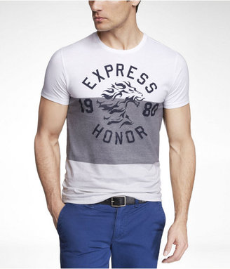 Leon Fitted Wide Stripe Graphic Tee Honor