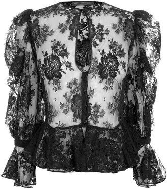 Alexander McQueen Black Victorian Lace Shirt