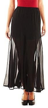 JCPenney HOLLYWOULD Long Illusion Skirt