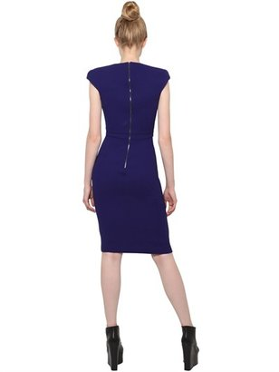Antonio Berardi Sweetheart Neckline Wool Crepe Dress
