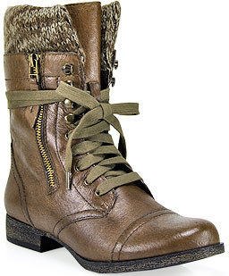 Steve Madden Jaax - Brown Leather Combat Boot