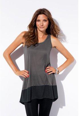 La Redoute Long Asymmetric Tunic Vest Top in Two-Tone Knit