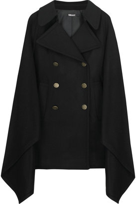 DKNY Wool-blend double-breasted cape