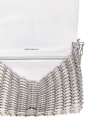 Paco Rabanne Metallic Leather Shoulder Bag