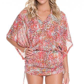Luli Fama Cabana V-Neck Dress In Multicolor (L524976)
