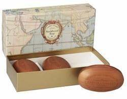Caswell-Massey Sandalwood Map Soap Box of 3 by 5.8ozea Bar)