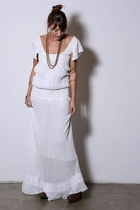 Jen's Pirate Booty Prairie Dress in White $229 thestylecure.com