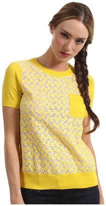 Kate Spade Mercy Sweater (Donovan Yellow/White Floral) - Apparel