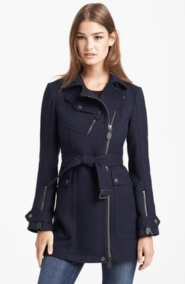 Burberry 'Tipstead' Asymmetrical Zip Trench Coat