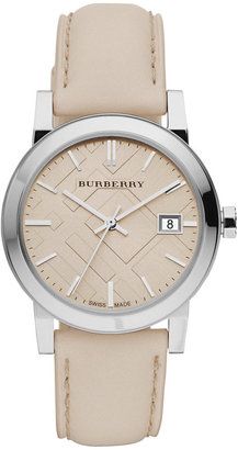 Burberry Watch, Women's Swiss Smooth Trench Leather Strap 34mm BU9107
