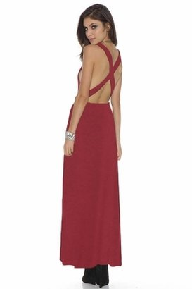 Lovers + Friends Feelin' Fine Maxi in Scooter Red $139 thestylecure.com