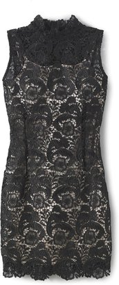 Spiegel Lace Mock Neck Dress