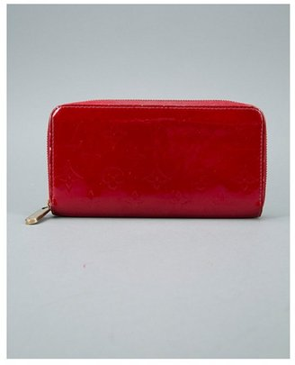 Louis Vuitton Pre-owned: red monogram patent 'Pomme d'Amour' zip continental wallet