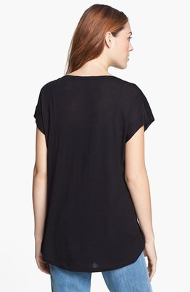 Vince Camuto Two by Embellished Shoulder Tee