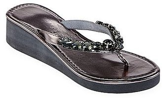 JCPenney Embellished Wedge Flip Flops