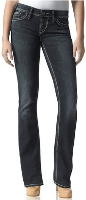 Silver Jeans Juniors Jeans, Aiko Bootcut, Dark Wash