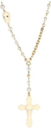 Tarina Tarantino Gothic Necklace (Ivorette) - Jewelry