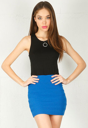 Torn By Ronny Kobo Claire Skirt in Royal Blue