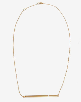 Jennifer Zeuner Jewelry Vertical Bar Necklace with Diamond