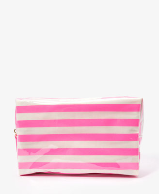 Forever 21 Striped Cosmetic Pouch