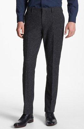 Topman Skinny Fit Fleck Wool Blend Trousers