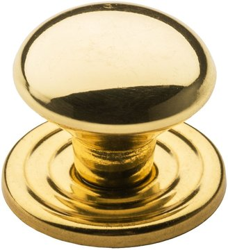 """Valsan Brass Cabinet Knob and Backplate - 1-1/2"""""""