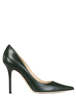 Jimmy Choo 100mm Abel Pointed Calfskin Pumps