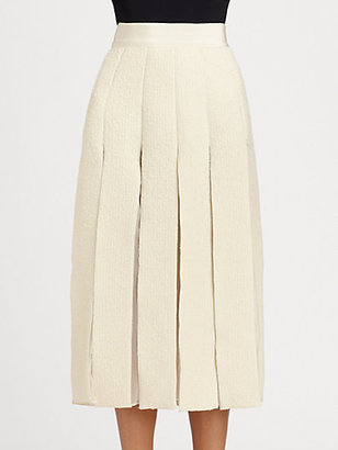 Giambattista Valli Pleated Bouclé Skirt