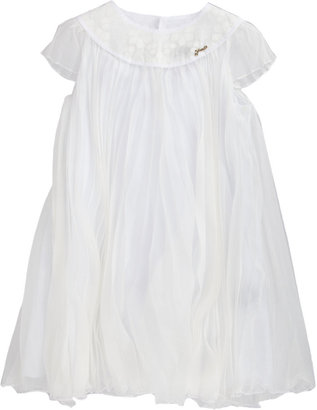 Fendi Floral Devoré Neckline Dress