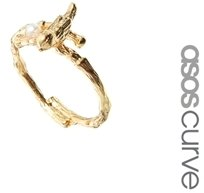 Asos Bird & Faux Pearl Ring - Cream