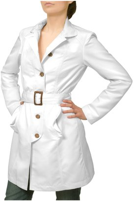 Julia Cocco' White Lightweight Belted Jacket