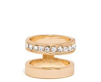 BaubleBar Crystal Negative Space Ring