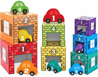 Melissa and Doug Kids' Nesting & Sorting Garages & Cars Toy $24.99 thestylecure.com