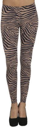 Arden B Zebra Print Ankle Legging