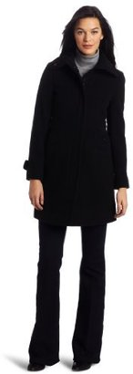 Kenneth Cole Reaction Women's Single Breasted Zip Front Coat