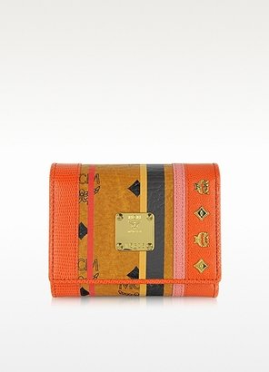 MCM Color Visetos Small Trifold Wallet