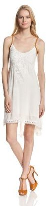 Miss Me Lace Trim Hilo Woven Dress