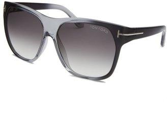Tom Ford Women's Federico Wayfarer Blue & Transparent Sunglasses