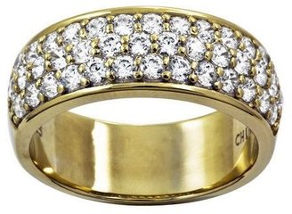 Diamonique Pave Band Ring, Sterling or 14K Clad